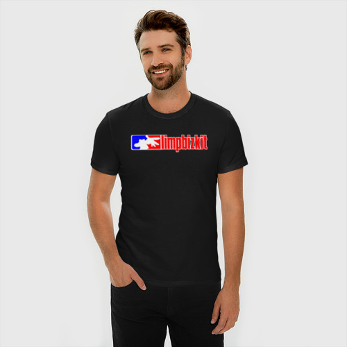 Мужская футболка премиум с принтом LIMP BIZKIT   ЛИМП БИЗКИТ (Z), фото на моделе #1