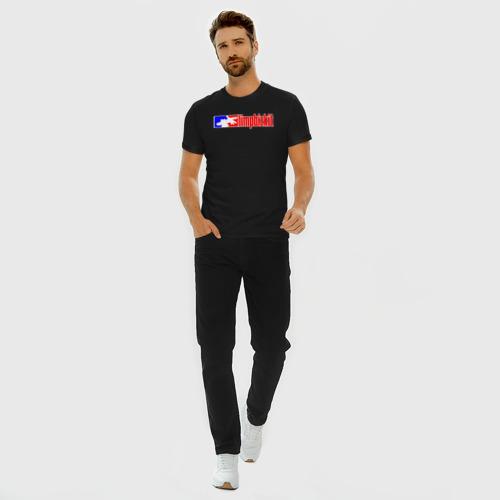 Мужская футболка премиум с принтом LIMP BIZKIT   ЛИМП БИЗКИТ (Z), вид сбоку #3