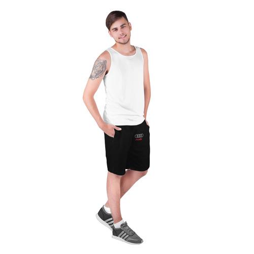 Мужские шорты 3D с принтом AUDI   АУДИ, фото на моделе #1