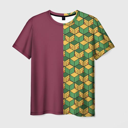 Мужская 3D футболка ГИЮ ТОМИОКА / KIMETSU NO YAIBA