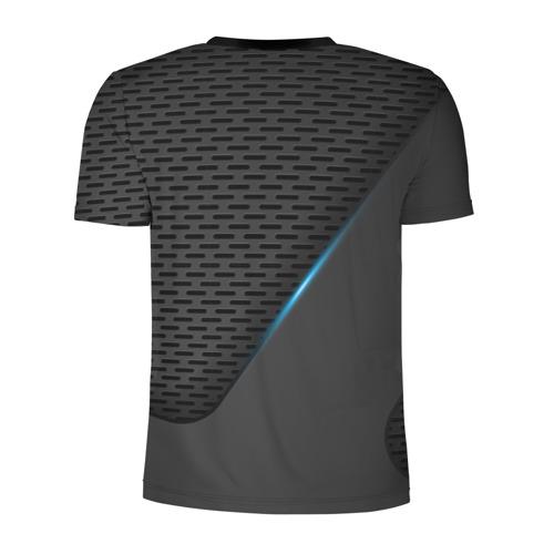 Мужская футболка 3D спортивная с принтом Audi RS, вид сзади #1