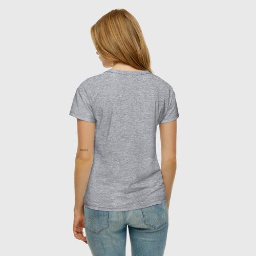 Женская футболка с принтом Бабочки, вид сзади #2