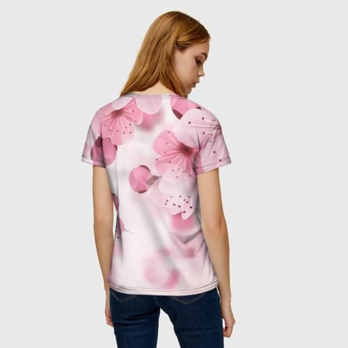 Женская 3D футболка с принтом Любимой бабушке, вид сзади #2