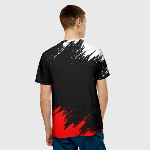 Мужская 3D футболка с принтом АНАРХИЯ   ANARCHY (Z), вид сзади #2