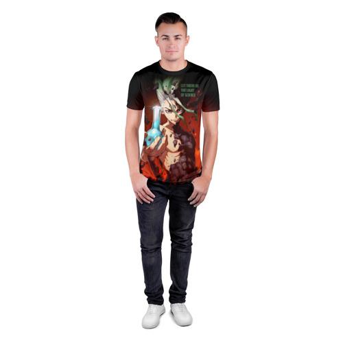 Мужская футболка 3D спортивная с принтом Доктор Стоун, вид сбоку #3