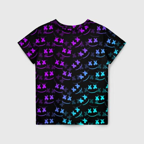 Детская 3D футболка с принтом FORTNITE X MARSHMELLO / ФОРТНАЙТ, вид сзади #1