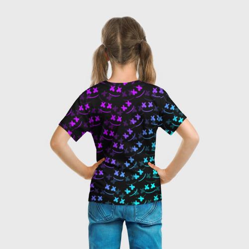 Детская 3D футболка с принтом FORTNITE X MARSHMELLO / ФОРТНАЙТ, вид сзади #2