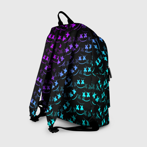 Рюкзак 3D с принтом FORTNITE X MARSHMELLO / ФОРТНАЙТ, вид сзади #1