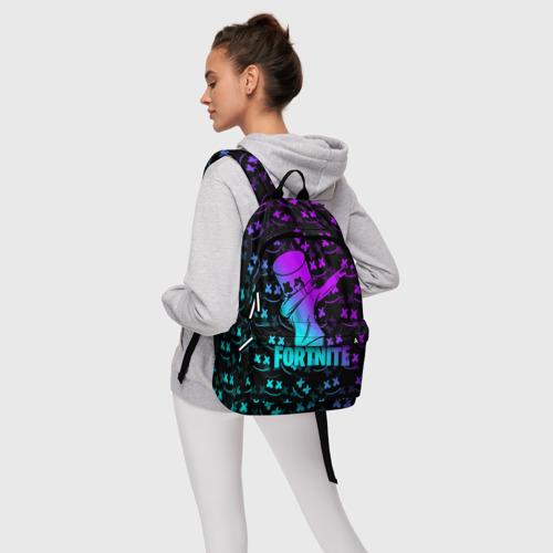 Рюкзак 3D с принтом FORTNITE X MARSHMELLO / ФОРТНАЙТ, фото #4