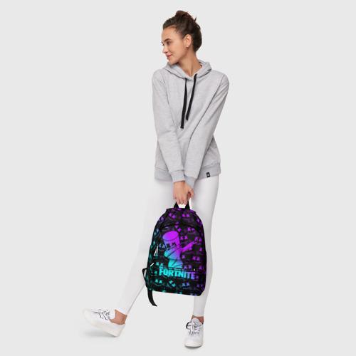 Рюкзак 3D с принтом FORTNITE X MARSHMELLO / ФОРТНАЙТ, фото #6