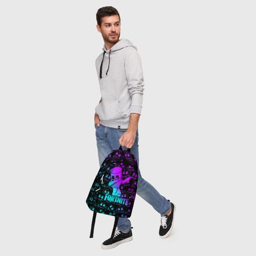 Рюкзак 3D с принтом FORTNITE X MARSHMELLO / ФОРТНАЙТ, фото #5