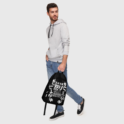 Рюкзак 3D с принтом Cyberpunk 2077 Japan tech, фото #5