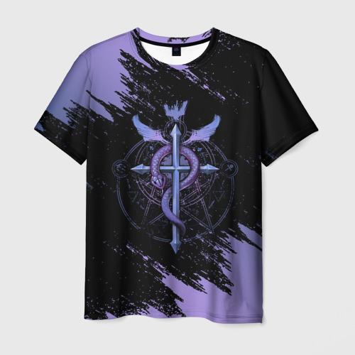 Мужская 3D футболка Стальной алхимик | Fullmetal Alchemist (Z)