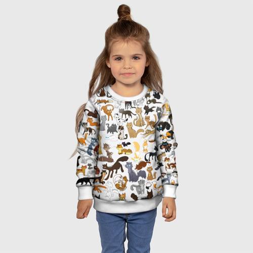 Детский 3D свитшот с принтом Котоколлаж 01, фото #4