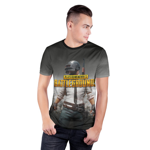 Мужская футболка 3D спортивная с принтом PUBG | ПУБГ (Z), фото на моделе #1