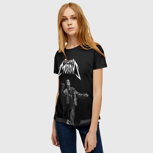 Женская 3D футболка с принтом ПОШЛАЯ МОЛЛИ, фото на моделе #1