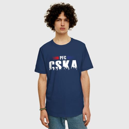 Футболка oversize с принтом PFC CSKA, фото на моделе #1