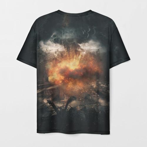Мужская 3D футболка с принтом Sabaton Band, вид сзади #1