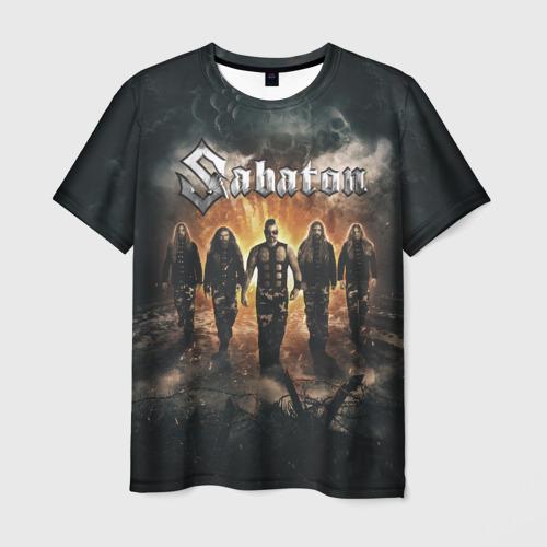 Мужская 3D футболка с принтом Sabaton Band, вид спереди #2
