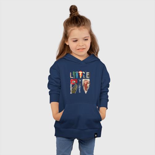 Детская хлопковая толстовка с принтом LITTLE BIG, вид сбоку #3