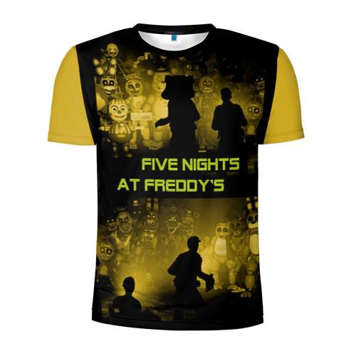 Мужская футболка 3D спортивная с принтом Five Nights at Freddy's, вид спереди #2
