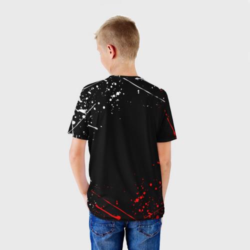 Детская 3D футболка с принтом FORTNITE IKONIK   ФОРТНАЙТ (Z), вид сзади #2