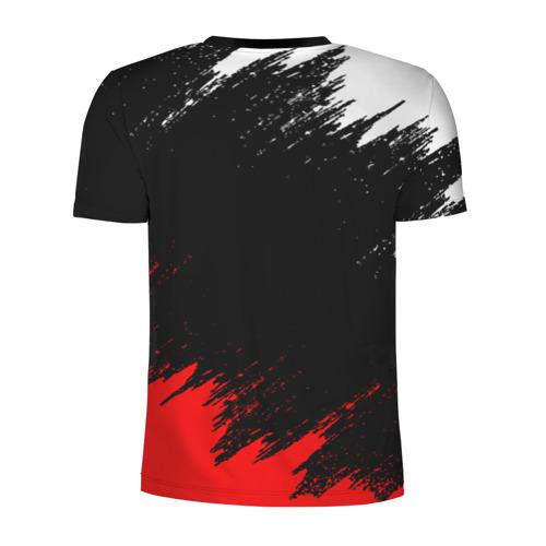 Мужская футболка 3D спортивная с принтом Louna   Tracktor Bowling (Z), вид сзади #1