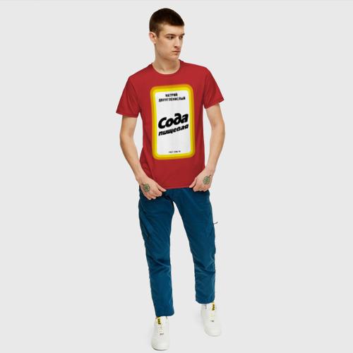 Мужская футболка с принтом Сода пищевая, вид сбоку #3