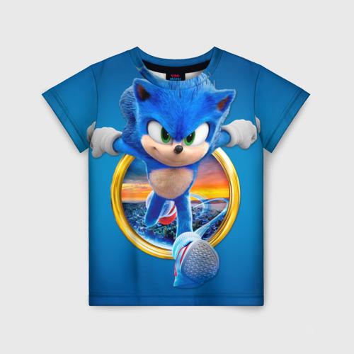 Детская 3D футболка Соник