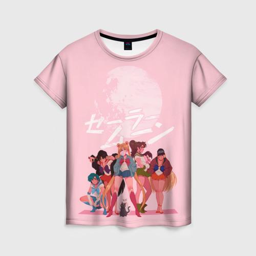 Женская 3D футболка PINK SAILOR MOON
