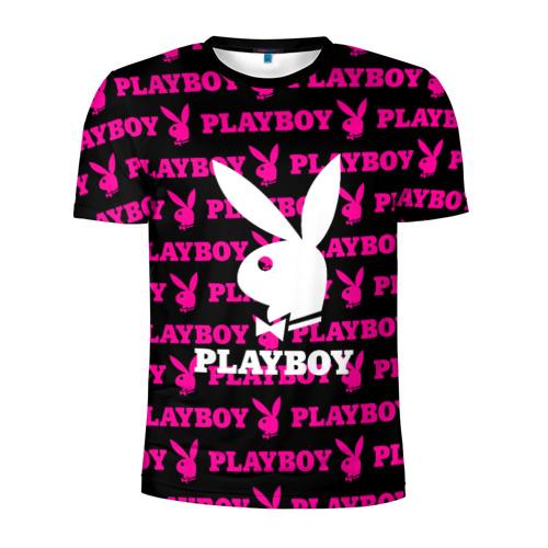 Мужская футболка 3D спортивная PLAYBOY | ПЛЕЙБОЙ (Z)