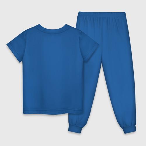 Детская пижама с принтом Майнкрафт, вид сзади #1