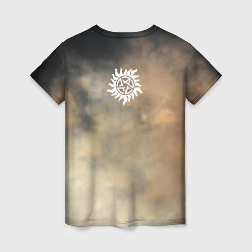 Женская 3D футболка с принтом Supernatural, вид сзади #1