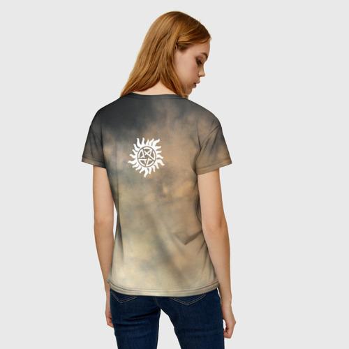Женская 3D футболка с принтом Supernatural, вид сзади #2