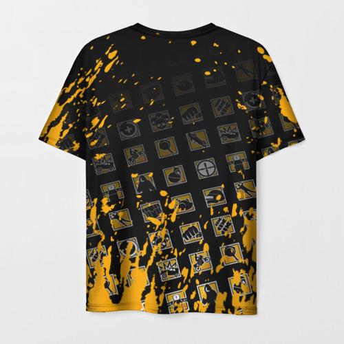 Мужская 3D футболка с принтом PUBG, вид сзади #1