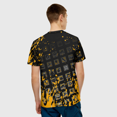 Мужская 3D футболка с принтом PUBG, вид сзади #2