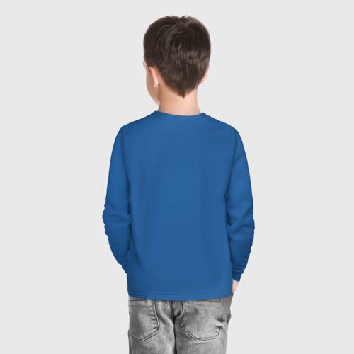 Детский хлопковый лонгслив с принтом GTA5, вид сзади #2