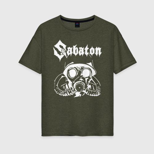 Женская футболка oversize SABATON | САБАТОН (Z)