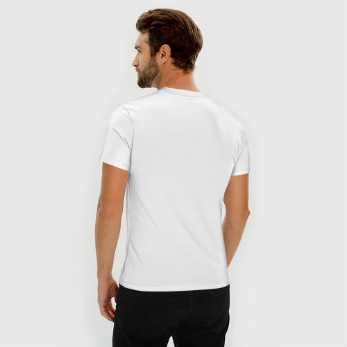 Мужская футболка премиум с принтом Ешь, спи, WAAAAGH, вид сзади #2