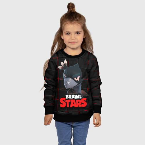 Детский 3D свитшот с принтом Brawl Stars Crow (Ворон), фото #4