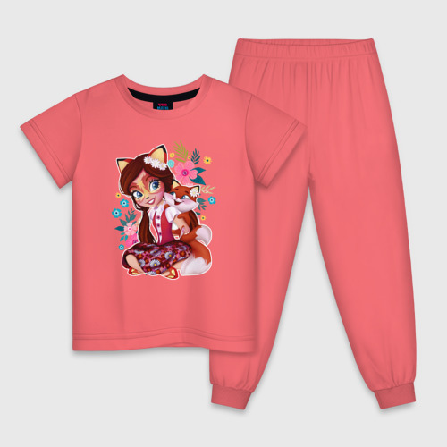 Детская пижама с принтом Фелисити Лис и Флик, вид спереди #2