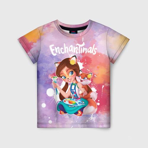 Детская 3D футболка с принтом Энчантималс, вид спереди #2