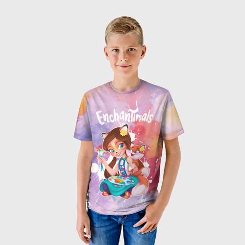 Детская 3D футболка с принтом Энчантималс, фото на моделе #1