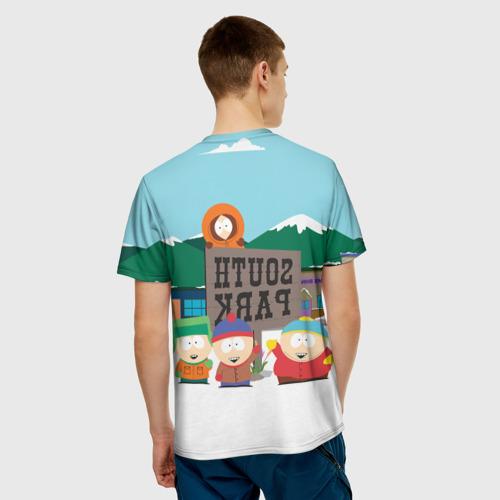 Мужская 3D футболка с принтом ЮЖНЫЙ ПАРК   SOUTH PARK (Z), вид сзади #2