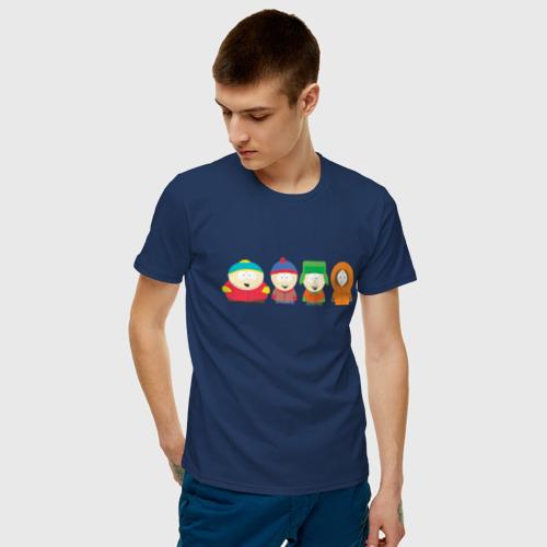 Мужская футболка с принтом SOUTH PARK, фото на моделе #1