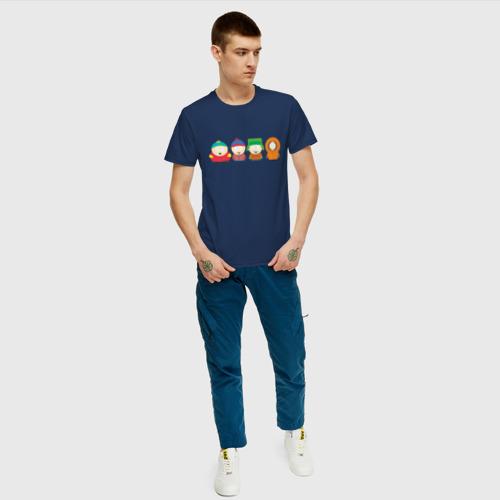 Мужская футболка с принтом SOUTH PARK, вид сбоку #3