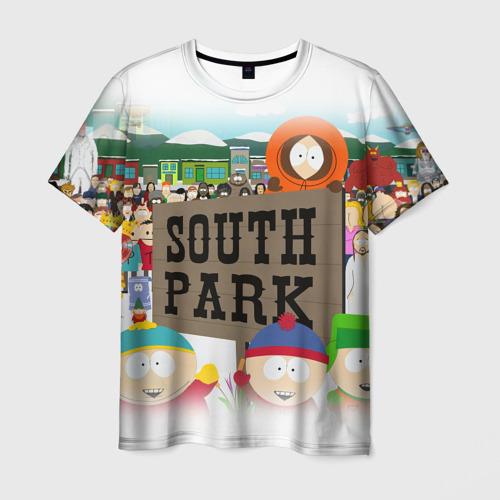 Мужская 3D футболка ЮЖНЫЙ ПАРК