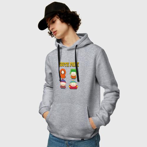 Мужская толстовка-худи с принтом ЮЖНЫЙ ПАРК | SOUTH PARK (Z), фото на моделе #1