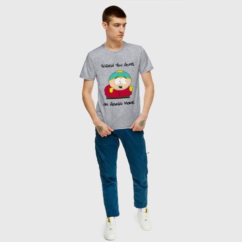Мужская футболка с принтом ЮЖНЫЙ ПАРК, вид сбоку #3