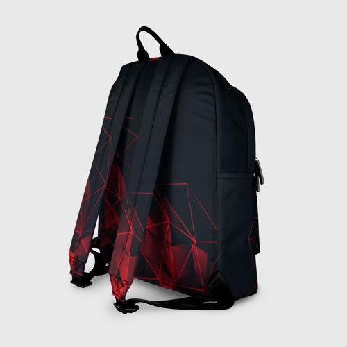 Рюкзак 3D с принтом RED STRIPES | КРАСНАЯ ГЕОМЕТРИЯ, вид сзади #1